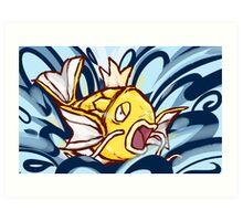 Shiny Magikarp | Splash Art Print