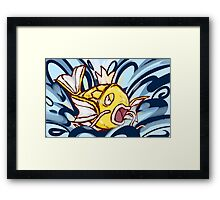Shiny Magikarp | Splash Framed Print