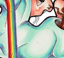 Puking Rainbows Sticker