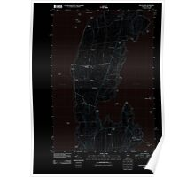 USGS Topo Map  Vermont VT South Hero 20111117 TM Inverted Poster
