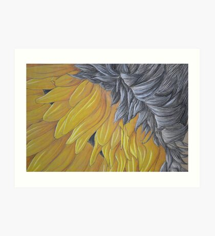 Upside down Sunflower Art Print