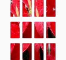Mottled Red Poinsettia 2 Art Rectangles 2 Unisex T-Shirt