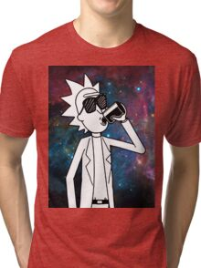 Rick Sanchez: Space Drunk  Tri-blend T-Shirt