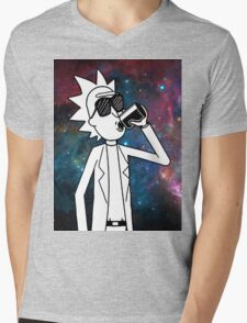 Rick Sanchez: Space Drunk  Mens V-Neck T-Shirt