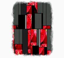 Mottled Red Poinsettia 2 Art Rectangles 7 Unisex T-Shirt