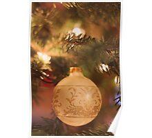 Christmas Gold Poster