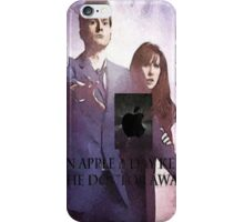 an apple a day keeps the doctor (who) away version 3 iPhone Case/Skin