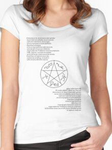 Supernatural Exorcism Shirt  Women's Fitted Scoop T-Shirt