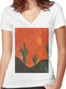 Arizona Sun Women's Fitted V-Neck T-Shirt