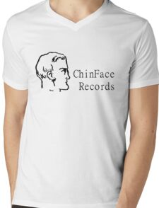 ChinFace Records (black) Mens V-Neck T-Shirt