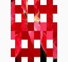 Mottled Red Poinsettia 2 Art Rectangles 15 Unisex T-Shirt