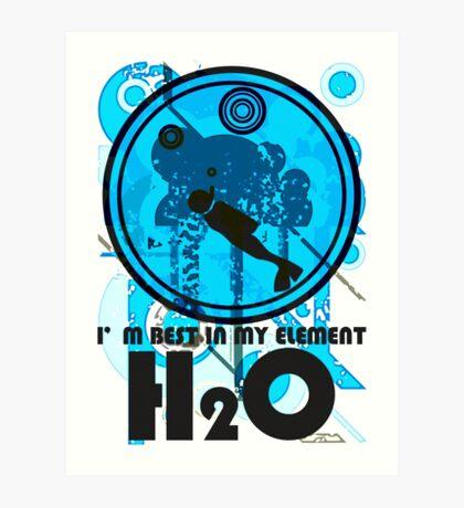 H2O_DIVER Art Print