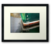 Such Depth Reflected in Numbers Framed Print
