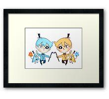 Will & Bill Framed Print