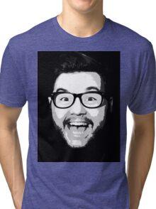 Zachware Classic Zachface -Black/White Tri-blend T-Shirt