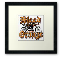 Bleed Orange Framed Print
