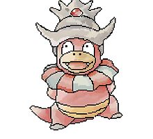 Pixel Slowking by wonderwaffle