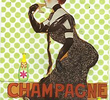 Champagne With Cats by RobynLee