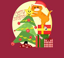 Christmas Santa Tabby Cat T-Shirt Long Sleeve T-Shirt