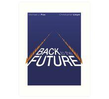 Minimalist Back to the Future Poster Art Print