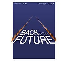 Minimalist Back to the Future Poster Photographic Print