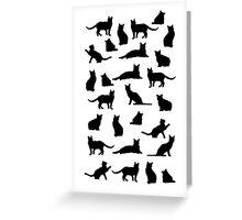 Black cats Greeting Card