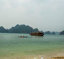 Ship at Halong Bay by vishwadeep  anshu