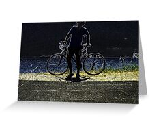 Cyclist Greeting Card