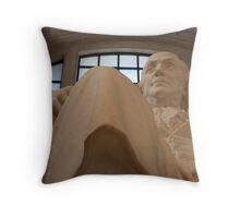 Benjamin Franklin At The Franklin Institute Throw Pillow