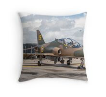 "Hawker-Siddeley Hawk T.1 XX184/19 - ""Hawkfire"" Throw Pillow"