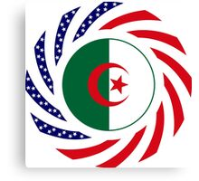 Algerian American Multinational Patriot Flag Canvas Print