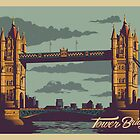 Tower Bridge vintage style illustration by glpHQ