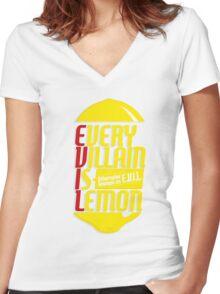 EVERY VILLIAN IS LEMON Women's Fitted V-Neck T-Shirt
