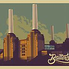 Battersea Power Station vintage style illustration by glpHQ