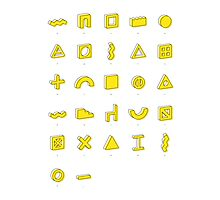 Architectural alphabet Photographic Print