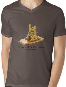 Leonardo's Machines Cam Hammer Mens V-Neck T-Shirt