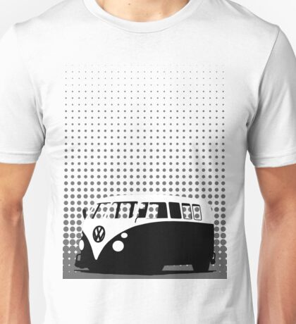 Halftone - VW Splitty Camper Van Unisex T-Shirt