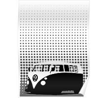 Halftone - VW Splitty Camper Van Poster