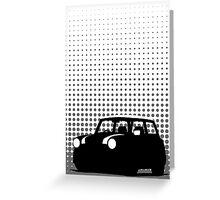 Halftone - Mini Cooper Greeting Card