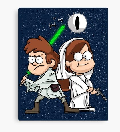 Wonder Twins Star Wars Canvas Print