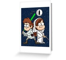 Wonder Twins Star Wars Greeting Card