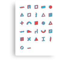 Architectural alphabet Canvas Print