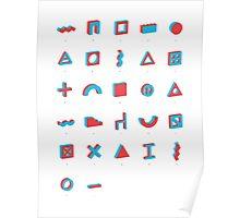 Architectural alphabet Poster
