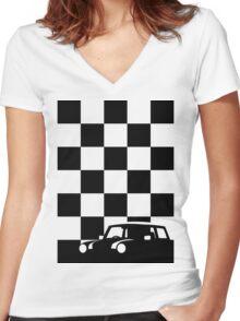 Mono Mini Women's Fitted V-Neck T-Shirt