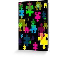 Puzzled Greeting Card