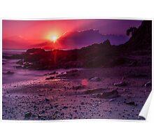 Sunrise Emerald Beach Poster