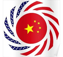 Chinese American Multinational Patriot Flag Series Poster