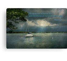 Inspirational - Hope - Sailor - Psalm 107-29 Canvas Print