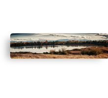 Fall in the swamp panoramic wall art artistic - Il calore dell'Autunno Canvas Print