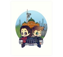 Winchesters in Melbourne Art Print